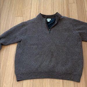 L.L. Bean men's quarter zip wool pullover